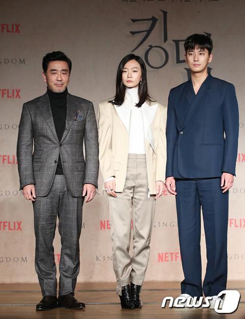 Netflixオリジナルドラマ「キングダム」の制作発表会-1