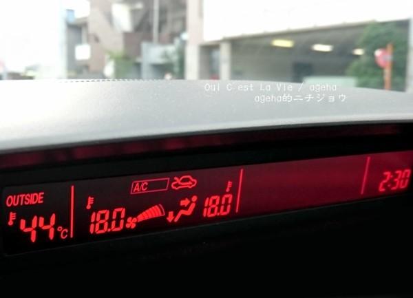 なんたる暑さ!