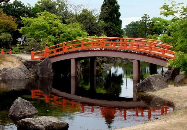紫式部公園赤い橋