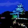ブルーリボンライトアップ掛川城