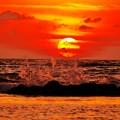 立春の夕陽