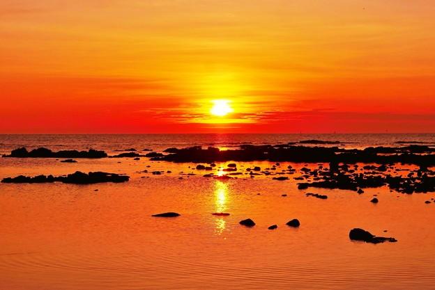 落陽日本海