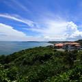 沖縄の海と雲さんが素敵でした^^