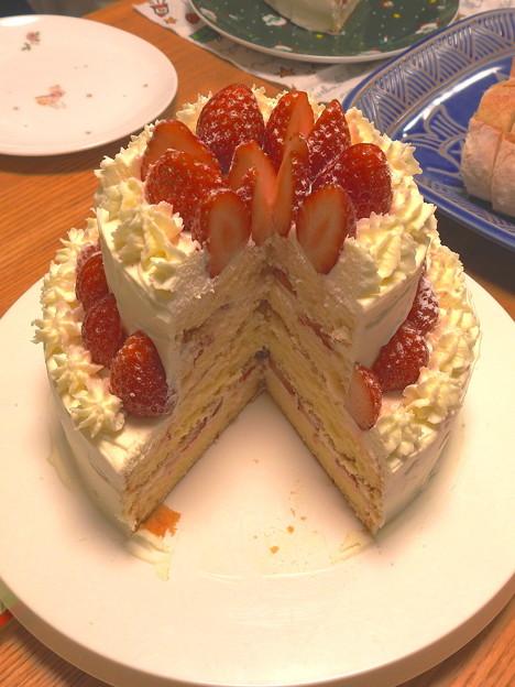 イチゴケーキを作りましたです^^