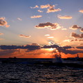 八丈島底土港の夜明けなのです^^