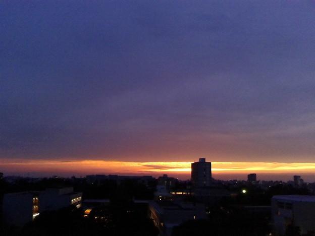 久し振りに夕焼け見たな。