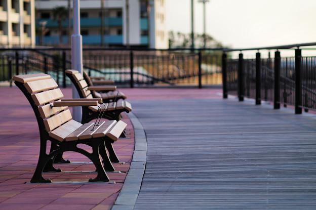 海風のベンチ