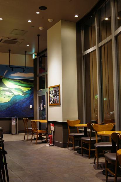 無人カフェにて