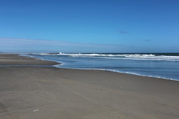 秋風のビーチ