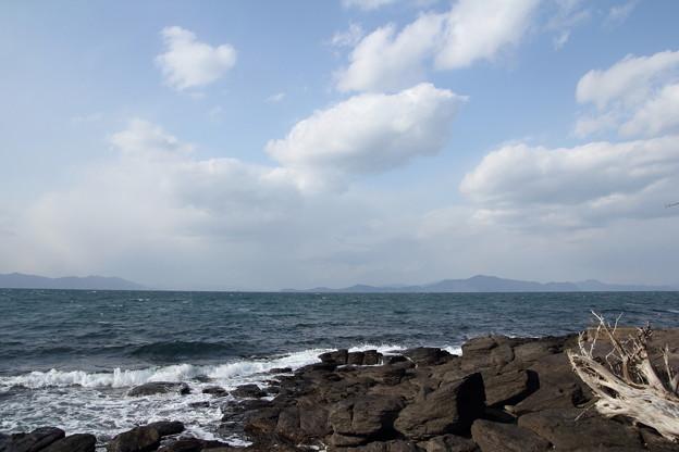冬の海はやはり寒い