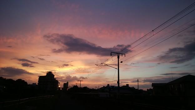 写真: あきらめていたら夕焼けになった