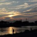 写真: 夕焼けを期待して