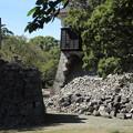 Photos: 熊本城の石碑がくるっと回っている