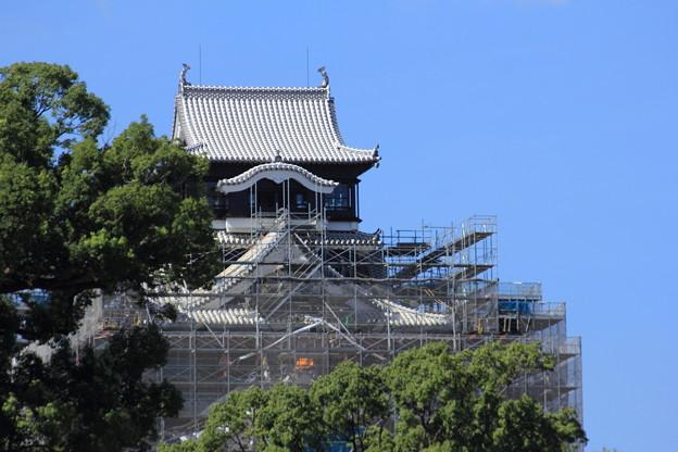 熊本城天守閣の修復