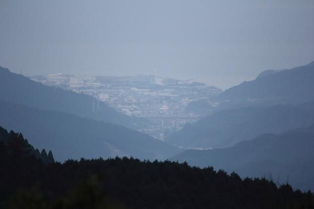亀齢峠から見れる市街地