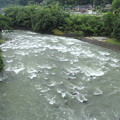 Photos: 大雨で増水