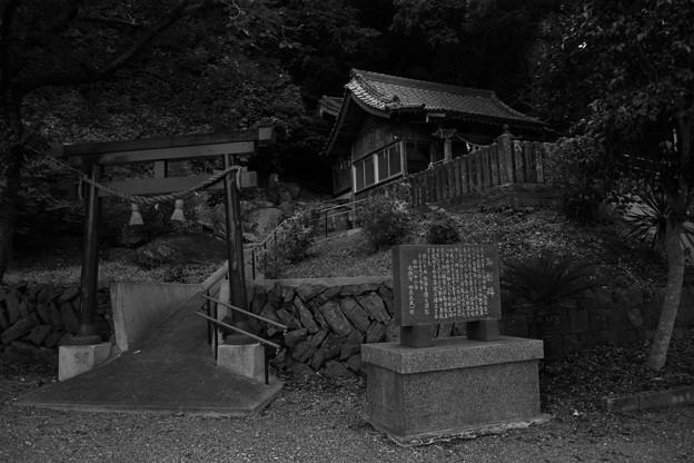 夕暮れの丸島神社