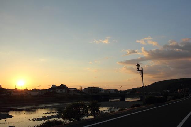 水俣川の夕景