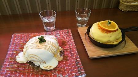 ハナハナカフェのパンケーキ