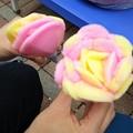 写真: バラ盛りババヘラアイス