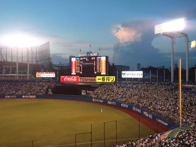 神宮球場夕景