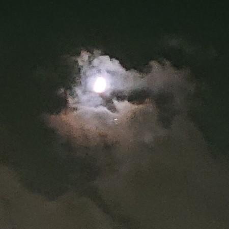 雲間でもわかる月と木星の明るさ!