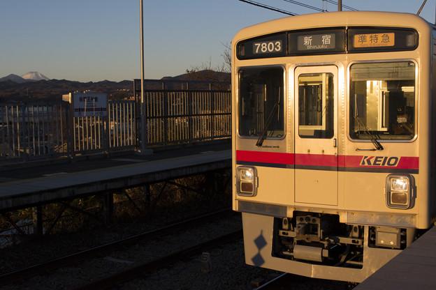 富士を望む駅
