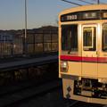 写真: 富士を望む駅