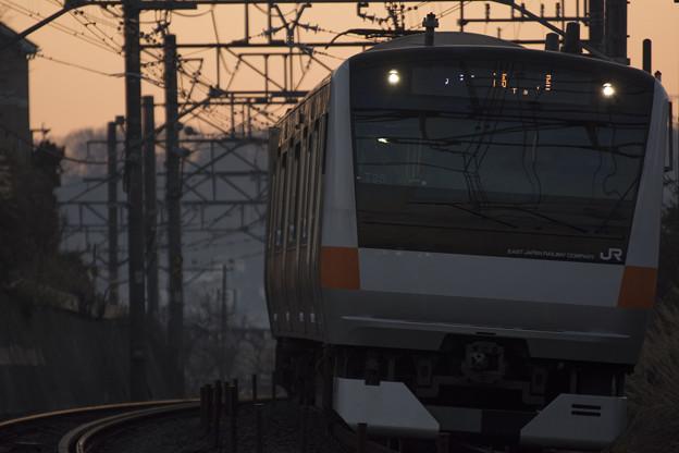 早起きの通勤電車
