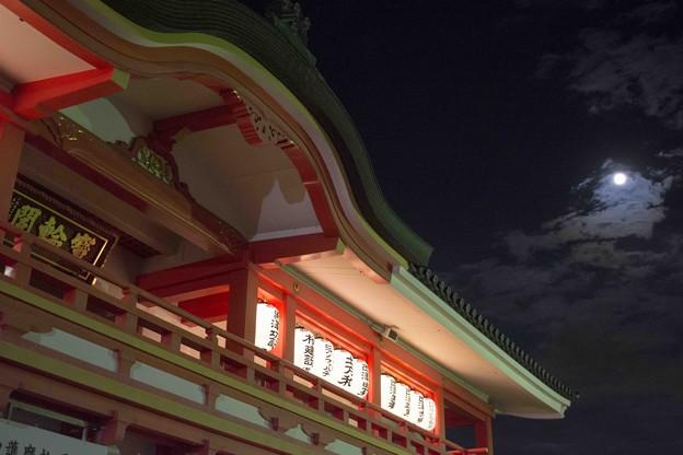 見上げれば秋の月