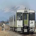 写真: 浅間山へ向かって