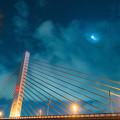 写真: 十勝川夜景