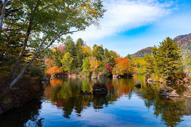 ー湖と紅葉ー