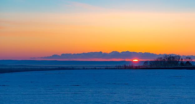 ー湿原の夜明けー
