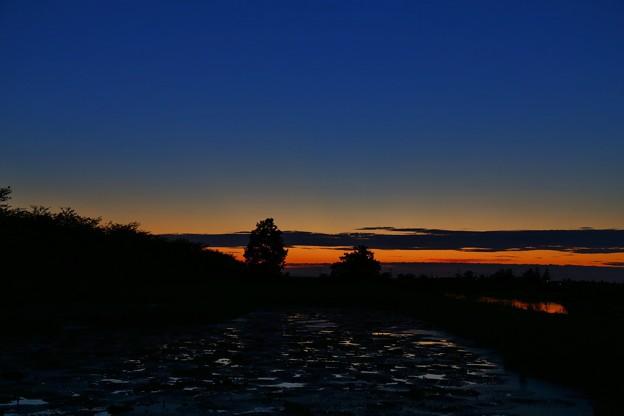 新潟 福島潟の夕景