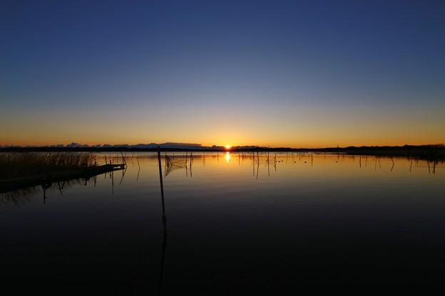 千葉県 某沼にて(黎明~日の出)