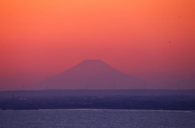 飯岡刑部岬から望む富士山