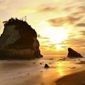 明け方の夫婦岩