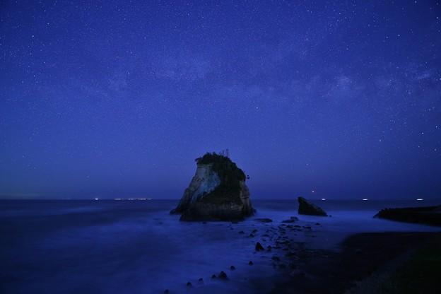 夫婦岩と天の川
