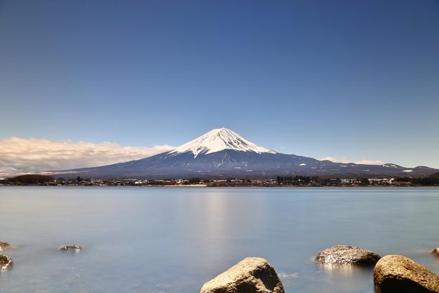 河口湖からの富士山(長秒露光チャレンジ)