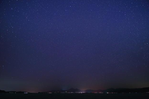 星空と磐梯山