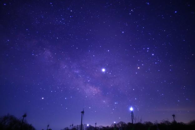 布引高原風力発電所の星空