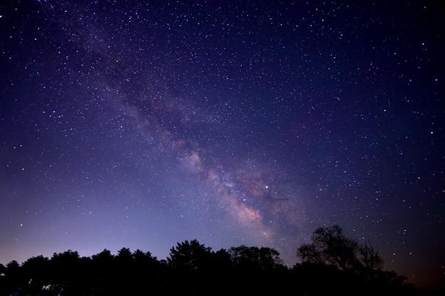 天の川の写真でRAW現像練習
