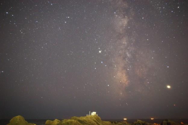 野島崎灯台にて 天の川