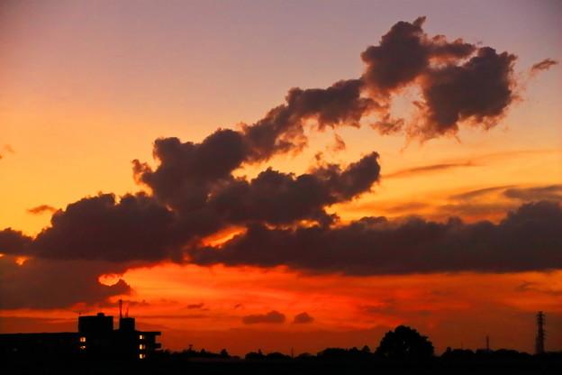 自宅屋上より 夏の夕焼け