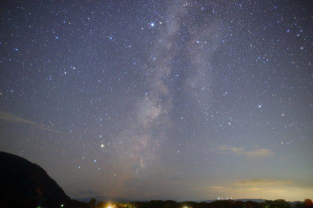 猪苗代湖  上戸浜付近の星空