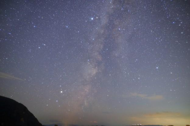 猪苗代湖 上戸付近の星空