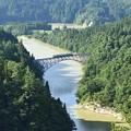 写真: 只見線 第一橋梁その1