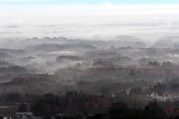Photos: 朝霧の街