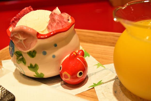 金涼祭_金魚鉢アイス